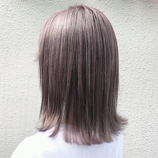 透明感 ストリート ラベンダーアッシュ アッシュベージュ ヘアスタイルや髪型の写真・画像