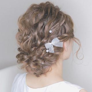愛され パーティ セミロング フェミニン ヘアスタイルや髪型の写真・画像