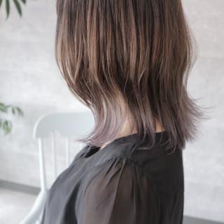 大人女子 グラデーションカラー ボブ ミディアム ヘアスタイルや髪型の写真・画像