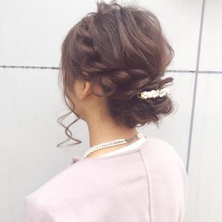 セミロング デート 結婚式 ヘアアレンジ ヘアスタイルや髪型の写真・画像