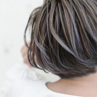 ハイトーン グラデーションカラー ショート ハイライト ヘアスタイルや髪型の写真・画像