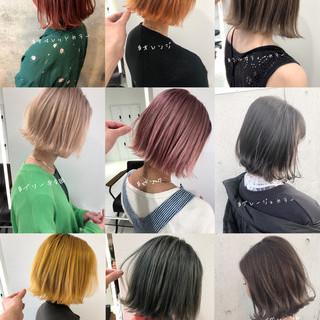 切りっぱなしボブ ボブ ショートボブ ショートヘア ヘアスタイルや髪型の写真・画像