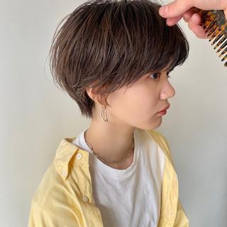 アンニュイ ナチュラル ショートボブ 小顔ショート ヘアスタイルや髪型の写真・画像