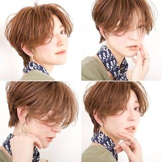 ナチュラル ショート デート 簡単ヘアアレンジ ヘアスタイルや髪型の写真・画像