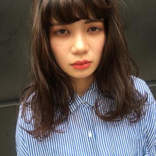 ワイドバング ピュア ナチュラル 暗髪 ヘアスタイルや髪型の写真・画像
