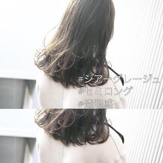 セミロング 前髪 ナチュラル アンニュイほつれヘア ヘアスタイルや髪型の写真・画像