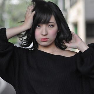 簡単ヘアアレンジ 黒髪 ナチュラル 透明感カラー ヘアスタイルや髪型の写真・画像