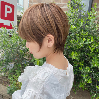 ナチュラル 簡単ヘアアレンジ ショートヘア ショートボブ ヘアスタイルや髪型の写真・画像