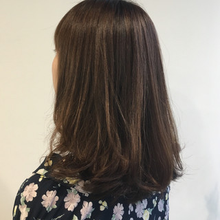 ゆるふわ パーマ ミディアム ワンカールパーマ ヘアスタイルや髪型の写真・画像