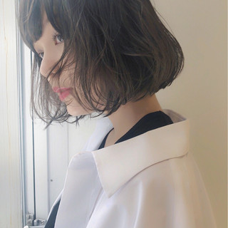 ボブ フェミニン エフォートレス ナチュラル ヘアスタイルや髪型の写真・画像