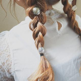 ロング 簡単ヘアアレンジ 大人かわいい ナチュラル ヘアスタイルや髪型の写真・画像