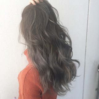 ロング ナチュラル 暗髪 モード ヘアスタイルや髪型の写真・画像