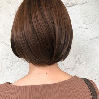 まとまるボブ モテボブ ボブ 透明感カラー ヘアスタイルや髪型の写真・画像