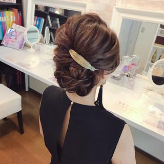 エレガント パーティ デート 結婚式 ヘアスタイルや髪型の写真・画像