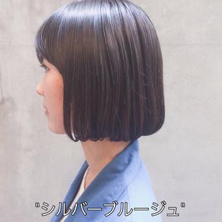 ナチュラル ミニボブ 外国人風カラー 切りっぱなしボブ ヘアスタイルや髪型の写真・画像