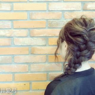 ロング ヘアアレンジ 編み込み ゆるふわ ヘアスタイルや髪型の写真・画像
