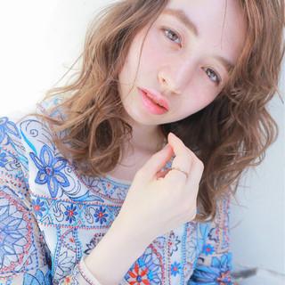 夏 ヘアアレンジ ピュア ミディアム ヘアスタイルや髪型の写真・画像