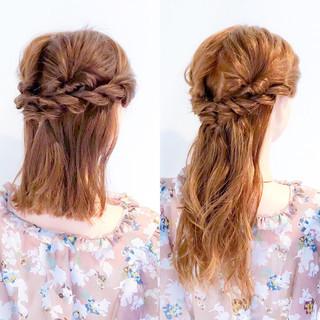 簡単ヘアアレンジ ヘアアレンジ アウトドア 大人女子 ヘアスタイルや髪型の写真・画像