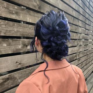 セミロング 簡単ヘアアレンジ エレガント ヘアアレンジ ヘアスタイルや髪型の写真・画像