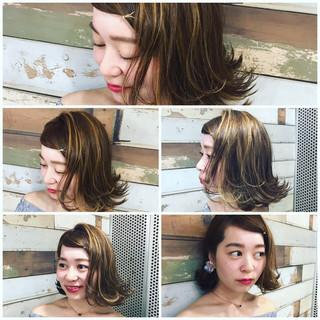 ハイライト 色気 セクシー ガーリー ヘアスタイルや髪型の写真・画像
