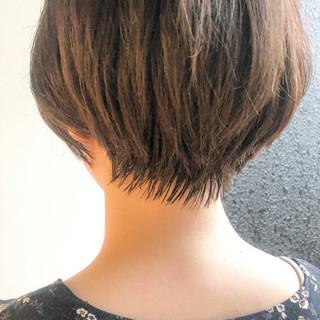ショートボブ ショート ベリーショート ストレート ヘアスタイルや髪型の写真・画像