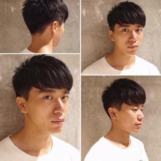 ショート ナチュラル ツーブロック メンズショート ヘアスタイルや髪型の写真・画像