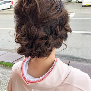 ミディアム デート フェミニン 結婚式 ヘアスタイルや髪型の写真・画像