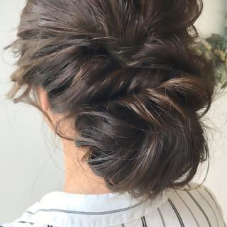 エレガント 女子力 セミロング 成人式 ヘアスタイルや髪型の写真・画像