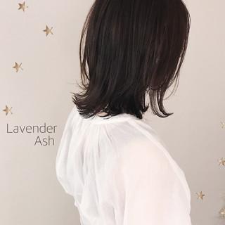 ナチュラル ラベンダーアッシュ 大人可愛い 大人女子 ヘアスタイルや髪型の写真・画像