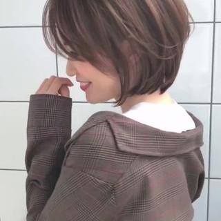 大人かわいい ショートボブ ショート 似合わせ ヘアスタイルや髪型の写真・画像