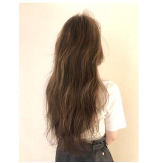 3Dカラー 大人女子 ヘアアレンジ ロング ヘアスタイルや髪型の写真・画像