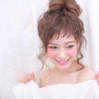簡単ヘアアレンジ 前髪あり おフェロ ヘアアレンジ ヘアスタイルや髪型の写真・画像