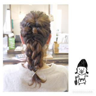 編み込み ショート ねじり ヘアアレンジ ヘアスタイルや髪型の写真・画像