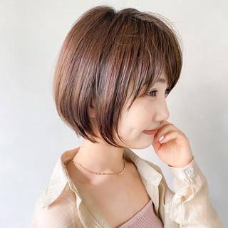 大人かわいい ショートヘア ミニボブ ショート ヘアスタイルや髪型の写真・画像