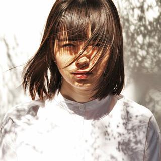 ストリート セミロング ゆるふわ アッシュ ヘアスタイルや髪型の写真・画像