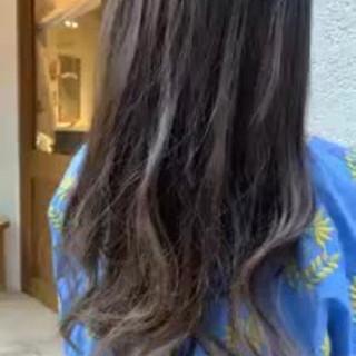 ロング 縮毛矯正 エレガント ハイライト ヘアスタイルや髪型の写真・画像