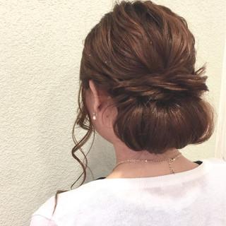 簡単ヘアアレンジ ショート ゆるふわ ヘアアレンジ ヘアスタイルや髪型の写真・画像