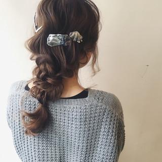 簡単ヘアアレンジ ヘアアレンジ ゆるふわ 大人女子 ヘアスタイルや髪型の写真・画像