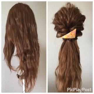 ヘアアレンジ セミロング 大人かわいい 簡単ヘアアレンジ ヘアスタイルや髪型の写真・画像
