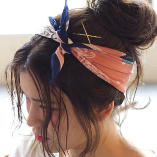 簡単ヘアアレンジ ロング 外国人風 ゆるふわ ヘアスタイルや髪型の写真・画像