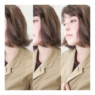 外国人風 大人女子 ワンカール 内巻き ヘアスタイルや髪型の写真・画像