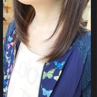 大人かわいい ハイライト パープル ローライト ヘアスタイルや髪型の写真・画像