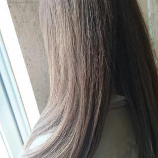 ストレート 縮毛矯正 大人かわいい ナチュラル ヘアスタイルや髪型の写真・画像