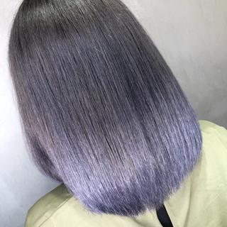 切りっぱなし ボブ アウトドア グラデーションカラー ヘアスタイルや髪型の写真・画像