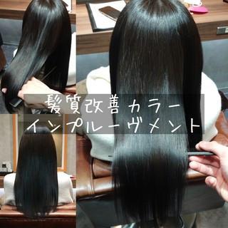 縮毛矯正 ナチュラル 美髪 髪質改善トリートメント ヘアスタイルや髪型の写真・画像