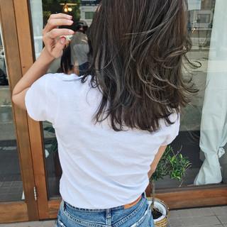 ヘアアレンジ ハイライト 大人かわいい セミロング ヘアスタイルや髪型の写真・画像