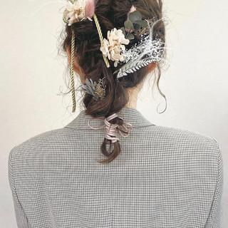ガーリー セミロング ヘアスタイルや髪型の写真・画像