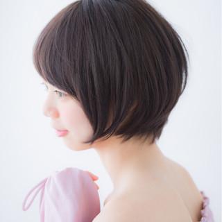 ボブ アンニュイ 簡単ヘアアレンジ アウトドア ヘアスタイルや髪型の写真・画像