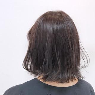 グレージュ ボブ フェミニン パープル ヘアスタイルや髪型の写真・画像