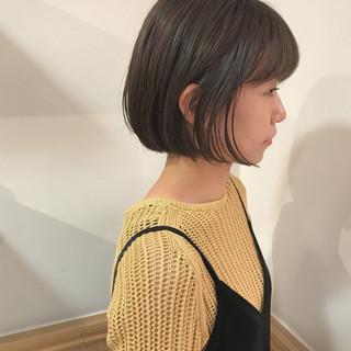 秋 ボブ 透明感 ハイライト ヘアスタイルや髪型の写真・画像